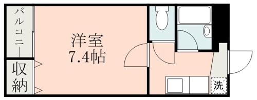 サングラッド黒髪 102号室
